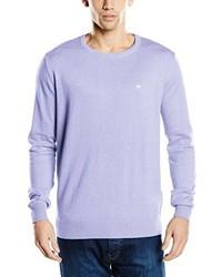 Jersey con cuello circular violeta claro de Tom Tailor