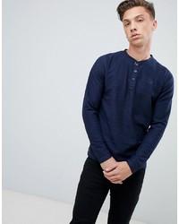 Jersey con cuello henley azul marino de Tokyo Laundry