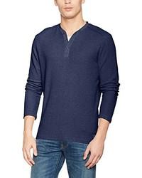 Jersey con cuello henley azul marino de Tom Tailor