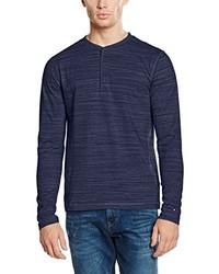 Jersey con cuello henley azul marino de Tommy Hilfiger