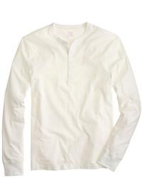 Jersey con cuello henley blanco