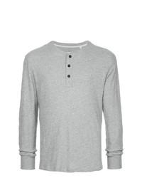 Jersey con cuello henley gris de rag & bone