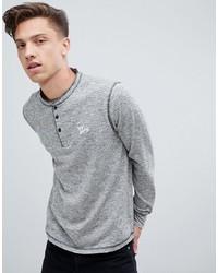 Jersey con cuello henley gris de Tokyo Laundry