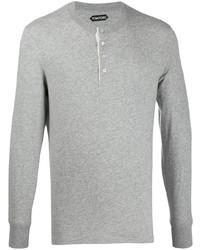 Jersey con cuello henley gris de Tom Ford
