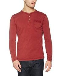 Jersey con cuello henley rojo de camel active