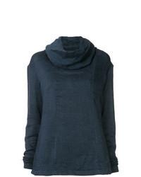 Jersey con cuello vuelto holgado azul marino