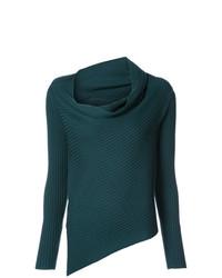 Jersey con cuello vuelto holgado en verde azulado de Tome