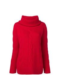 Jersey con cuello vuelto holgado rojo de Philo-Sofie