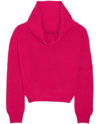 Jersey con cuello vuelto holgado rosa