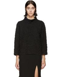 Jersey con print de flores negro de Alexander McQueen