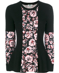 Jersey con print de flores negro de Kenzo