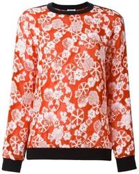 Jersey con print de flores rojo de Kenzo