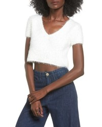 Jersey corto de angora blanco
