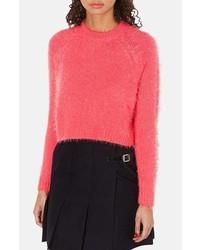 Jersey corto de angora rosa