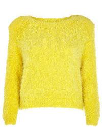Jersey corto de punto amarillo