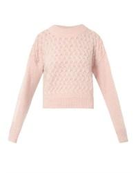 Jersey corto de punto rosado