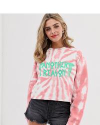 Jersey corto efecto teñido anudado rosado de Another Reason
