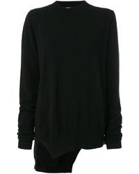 Jersey de cachemir de punto negro de Jil Sander