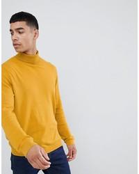Jersey de cuello alto amarillo de ASOS DESIGN