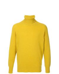Jersey de cuello alto amarillo de Maison Flaneur