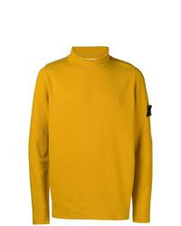Jersey de cuello alto amarillo de Stone Island