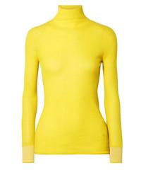 Jersey de cuello alto amarillo de Victoria Victoria Beckham