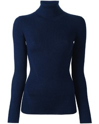 Jersey de cuello alto azul marino
