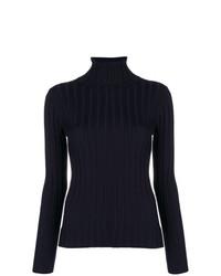 Jersey de cuello alto azul marino de Aspesi