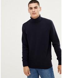 Jersey de cuello alto azul marino de Barbour