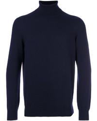 Jersey de cuello alto azul marino de Brunello Cucinelli