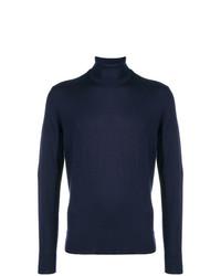 Jersey de cuello alto azul marino de Calvin Klein