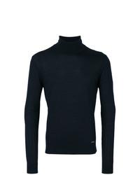 Jersey de cuello alto azul marino de DSQUARED2