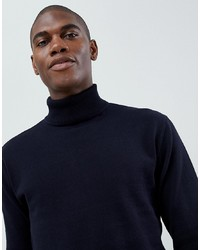 Jersey de cuello alto azul marino de French Connection