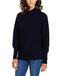 Jersey de cuello alto azul marino de GANT