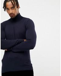 Jersey de cuello alto azul marino de Gianni Feraud