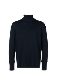 Jersey de cuello alto azul marino de Jil Sander