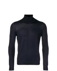 Jersey de cuello alto azul marino de La Fileria For D'aniello