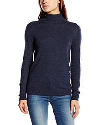 Jersey de cuello alto azul marino de Pieces