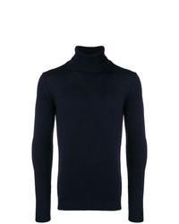 Jersey de cuello alto azul marino de Roberto Collina