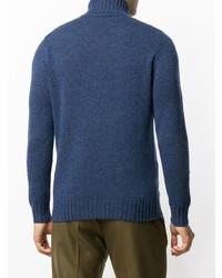 Jersey de cuello alto azul marino de Dell'oglio