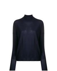 Jersey de cuello alto azul marino de Roseanna