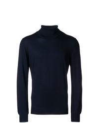 Jersey de cuello alto azul marino de Tagliatore