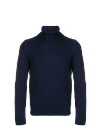 Jersey de cuello alto azul marino de Zanone