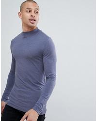 Jersey de cuello alto azul de ASOS DESIGN