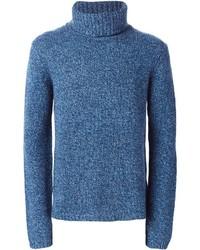 Jersey de cuello alto azul de BLK DNM