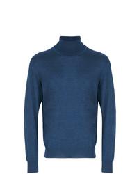 Jersey de cuello alto azul de Brioni