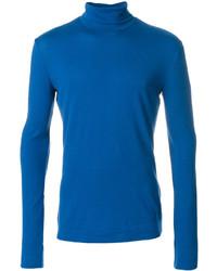 Jersey de cuello alto azul de Calvin Klein