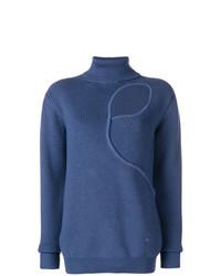 Jersey de cuello alto azul de Esteban Cortazar