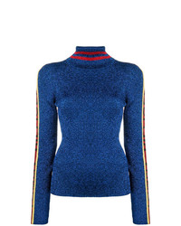 Jersey de cuello alto azul de Hilfiger Collection