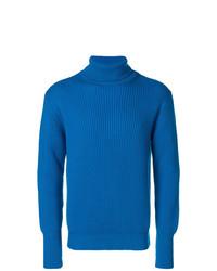 Jersey de cuello alto azul de Maison Flaneur